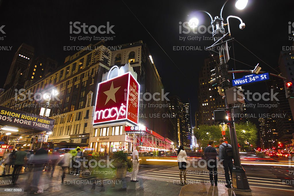 34th Street Herald Square NYC stock photo