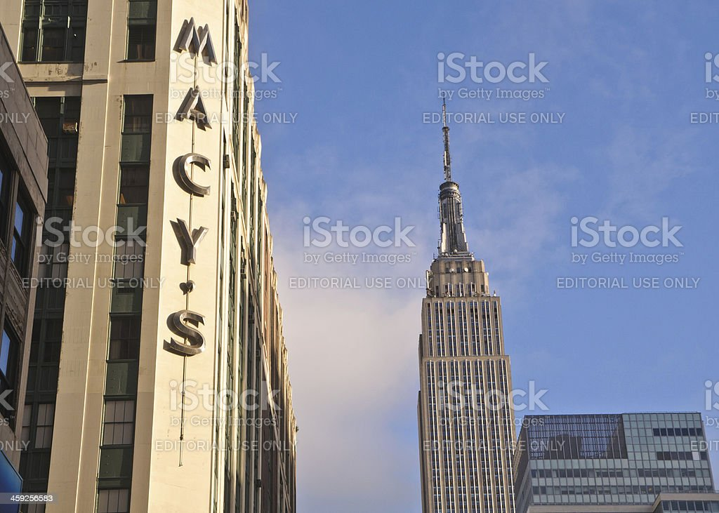 34th Street Icons stock photo