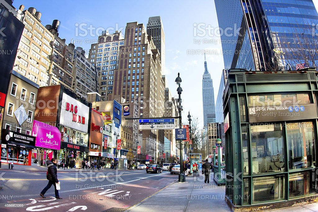 34th Street New York City stock photo