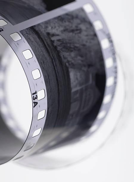 35mm Black and White Film stock photo