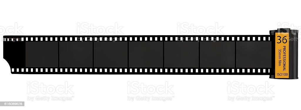 35mm camera photo film canisters isolated on white – Foto