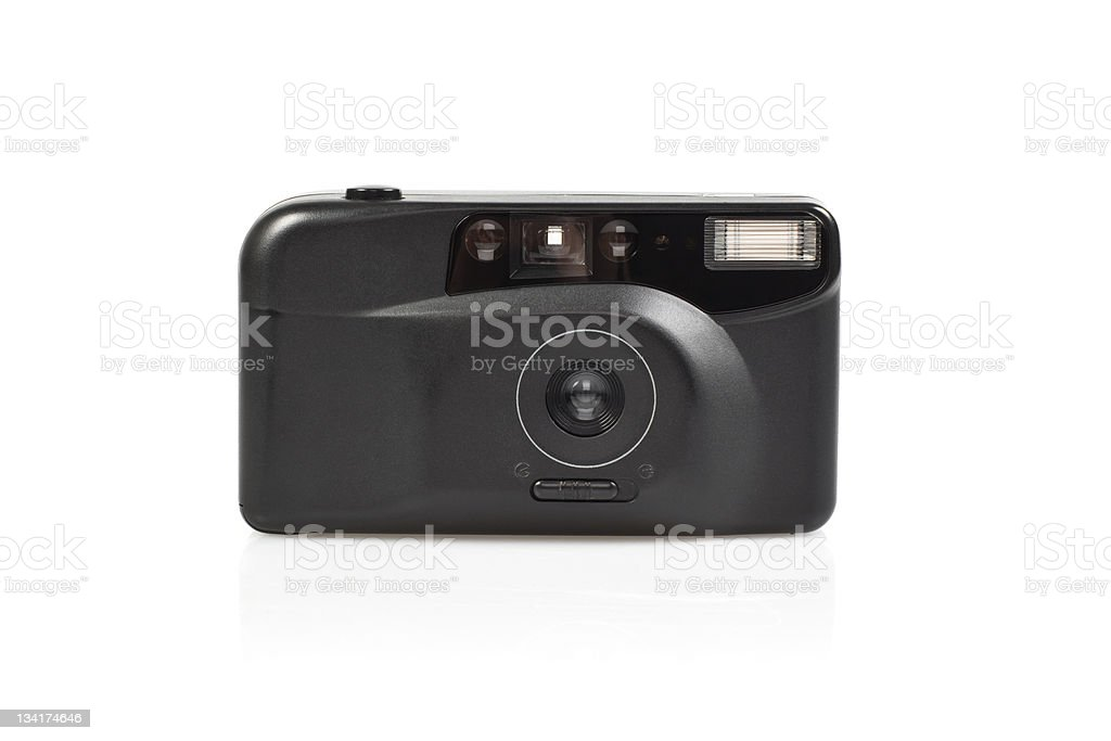 35mm  compact camera stock photo