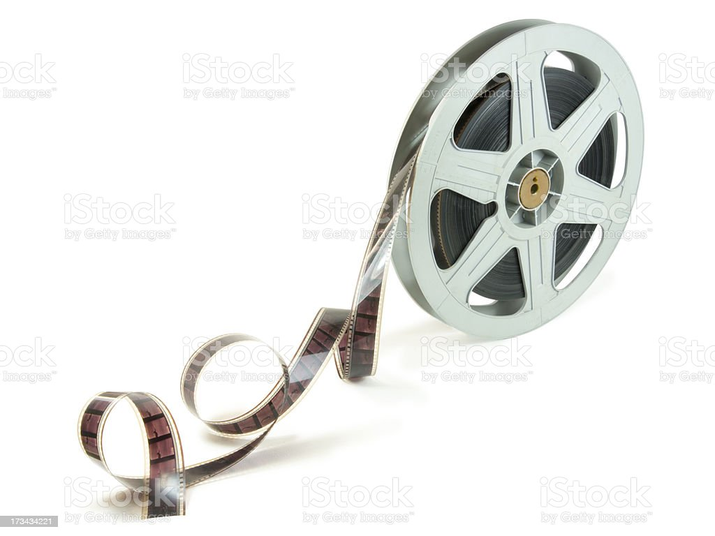 La película de 35 mm en carrete - foto de stock