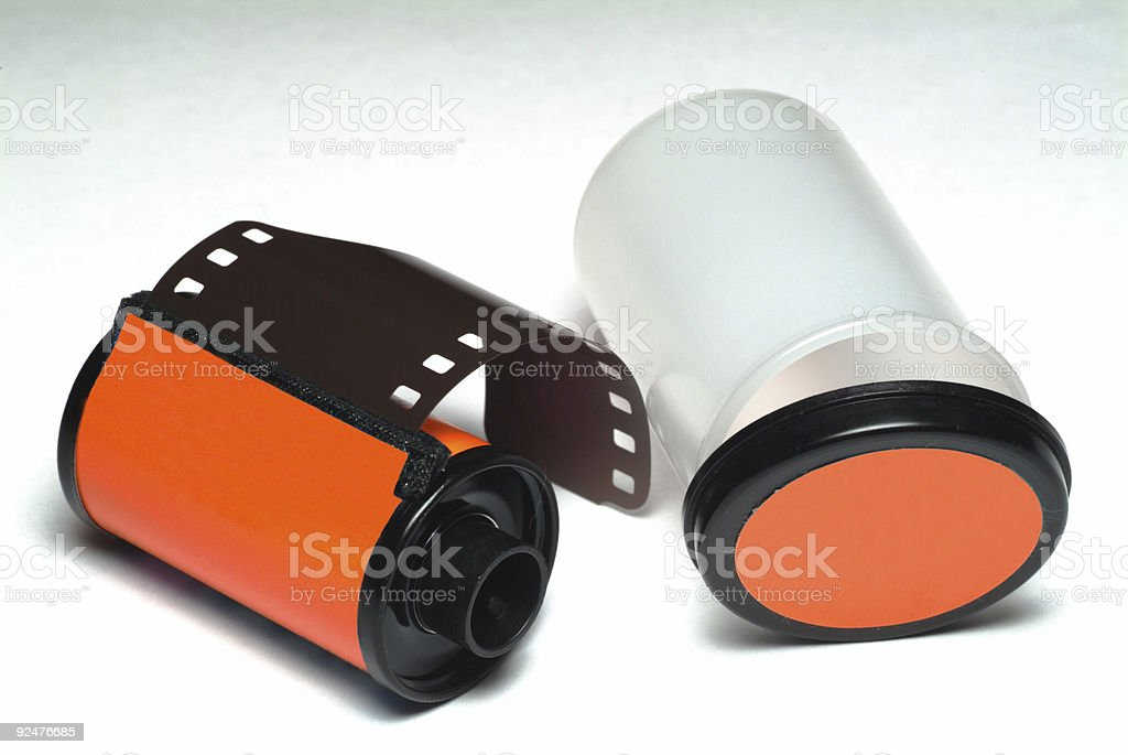 35mm film roll royalty-free stock photo