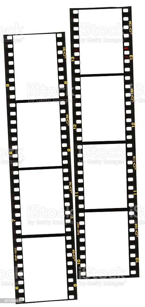 35mm film stirps stock photo