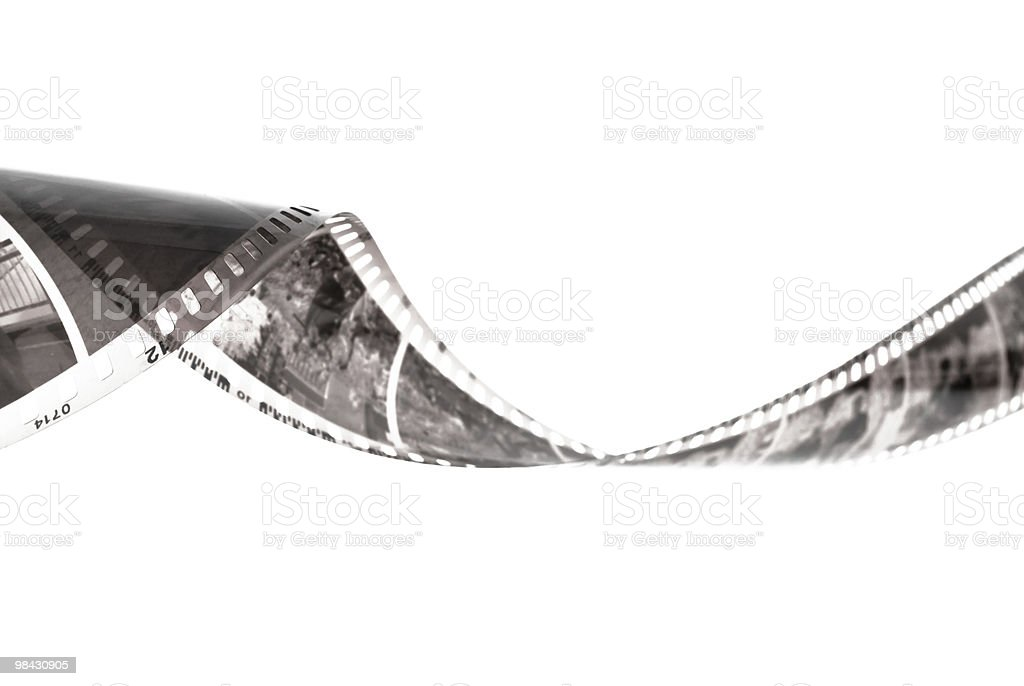 35mm film strip isolated on white background royalty-free stock photo