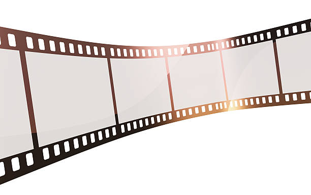 35mm film strip 3d render 35mm film strip (isolated on white and clipping path) negative image technique stock pictures, royalty-free photos & images