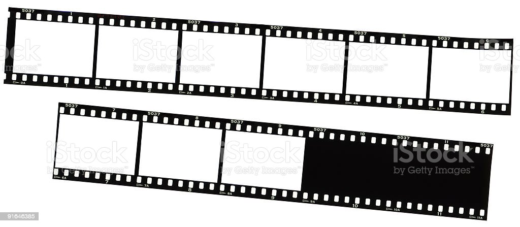 35mm film strips stock photo