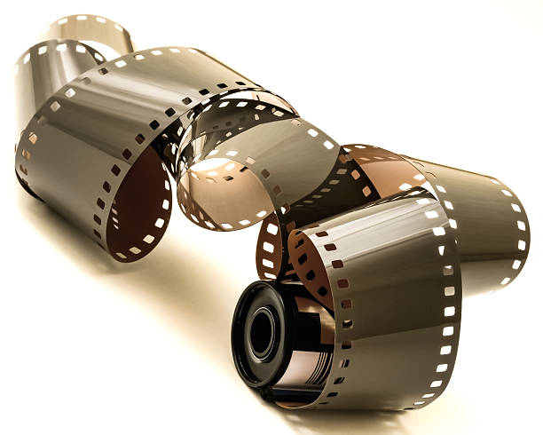 35mm Film Unrolled stock photo