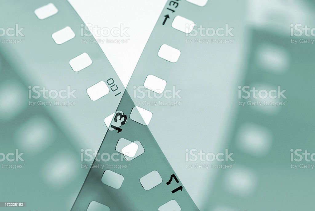 35mm filmstrip styled in studio royalty-free stock photo