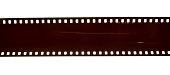 35mm negative filmstrip on white background