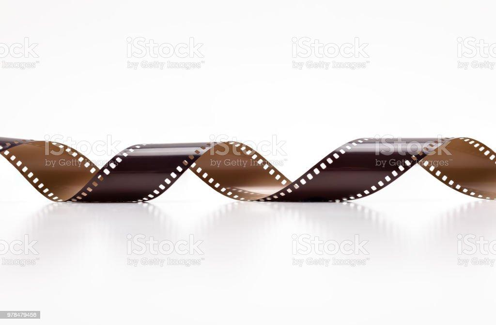 35mm Filmrollen Foto. Isoliert auf weißem Hintergrund. – Foto