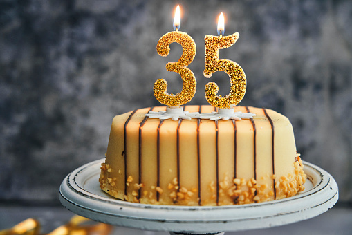 Admirable 35Th Birthday Cake Stock Photo Download Image Now Istock Personalised Birthday Cards Sponlily Jamesorg