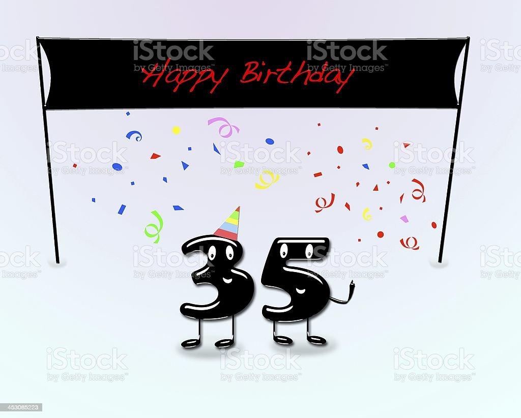 35th birthday party. stock photo