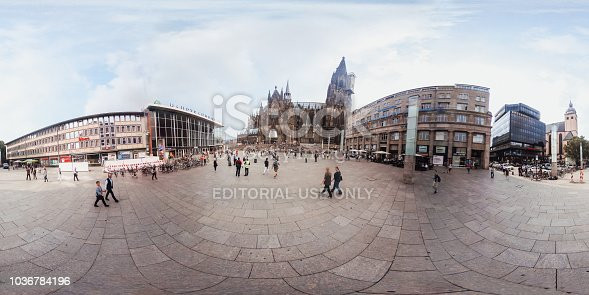 360-degree view of Cologne's Cathedral in Germany