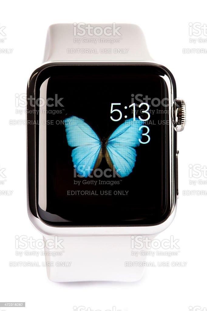 Apple Disfrutar De Acero Inoxidable De 38 Mm Blanco Deporte Banda ...