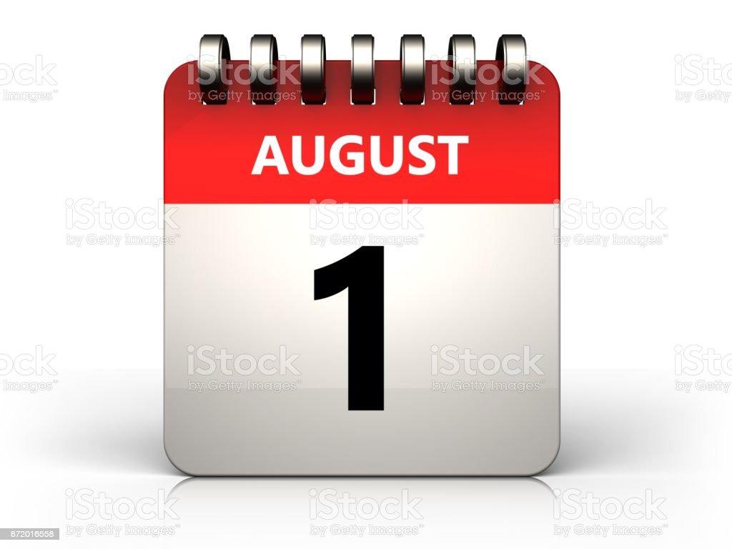 3D 1 august Kalender – Foto