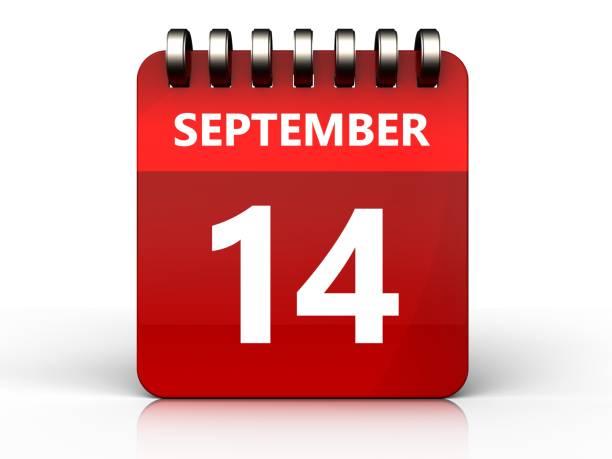 3d 14 september calendar stock photo