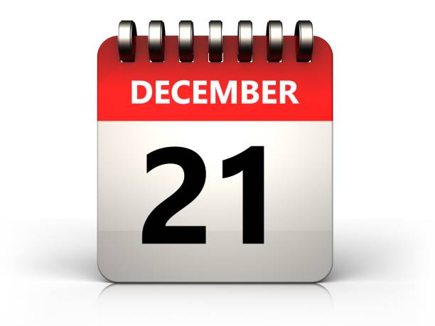 3d 21 december calendar - number 21 stock photos and pictures