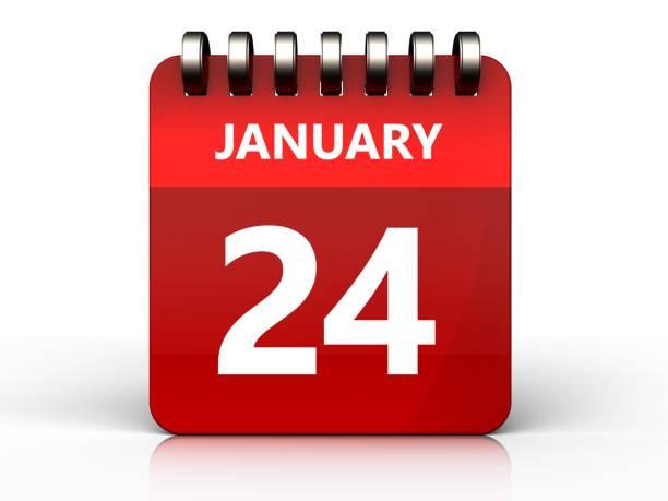 3d calendrier 24 janvier - nombre 24 photos et images de collection