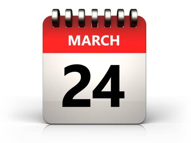 3d calendrier 24 mars - nombre 24 photos et images de collection