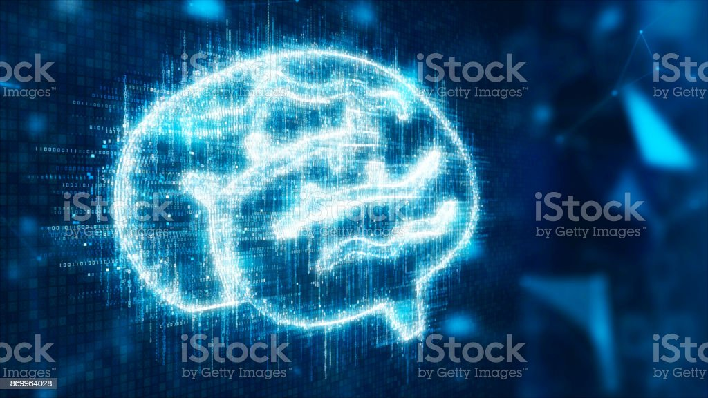 3d abstract brain stock photo