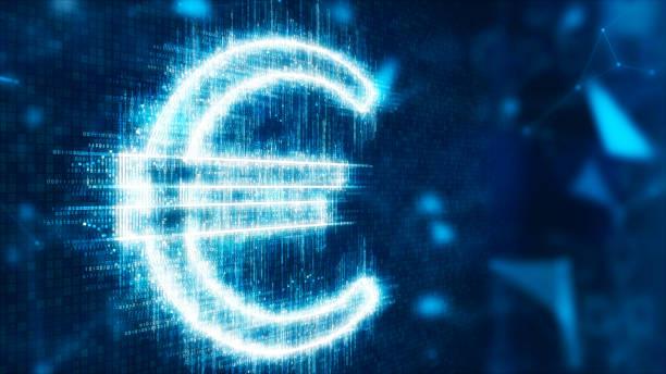 3d abstrakte währung zeichen euro - euro symbol stock-fotos und bilder