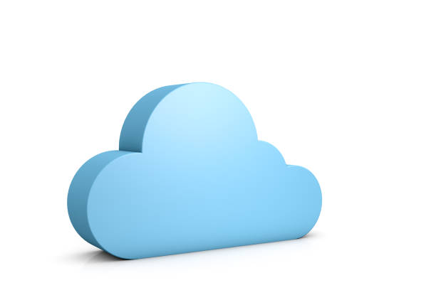 3d abstract data cloud stock photo