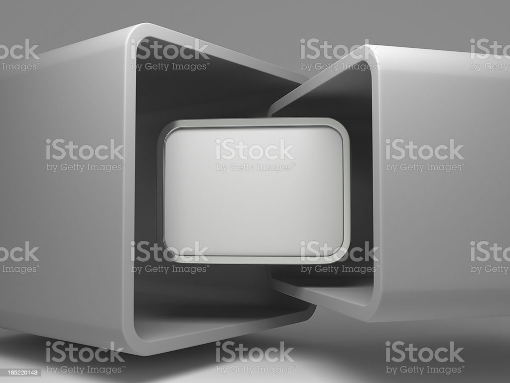 3d abstract flying display background royalty-free stock photo