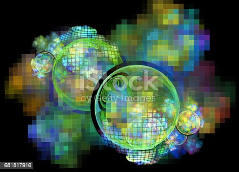 1017196524 istock photo 3d abstract fractal background 681817916