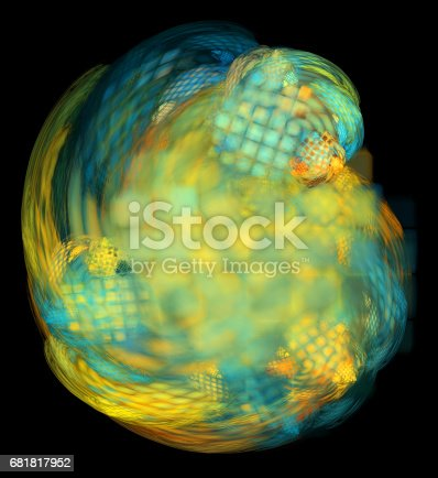 1017196524 istock photo 3d abstract fractal background 681817952