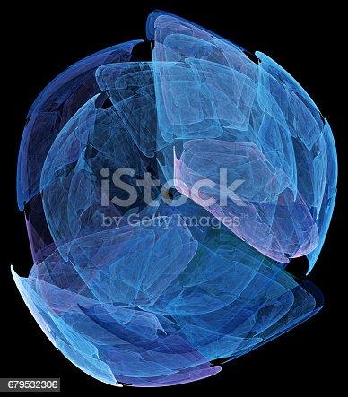 Computer rendered 3d abstract fractal illustration for creative design