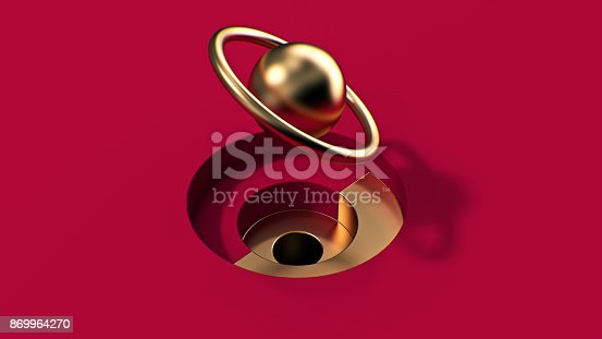 istock 3d abstract golden object 869964270