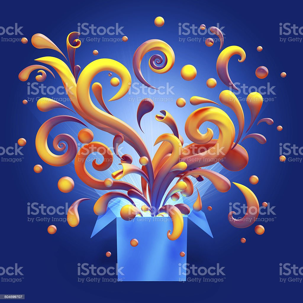 3d abstract magical colorful confetti clip art stock photo