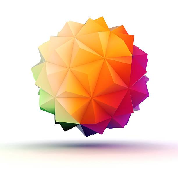 3 d abstrait objet pour votre design - forme bidimensionnelle photos et images de collection