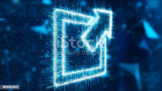 537390268 istock photo 3d abstract screen 869963642