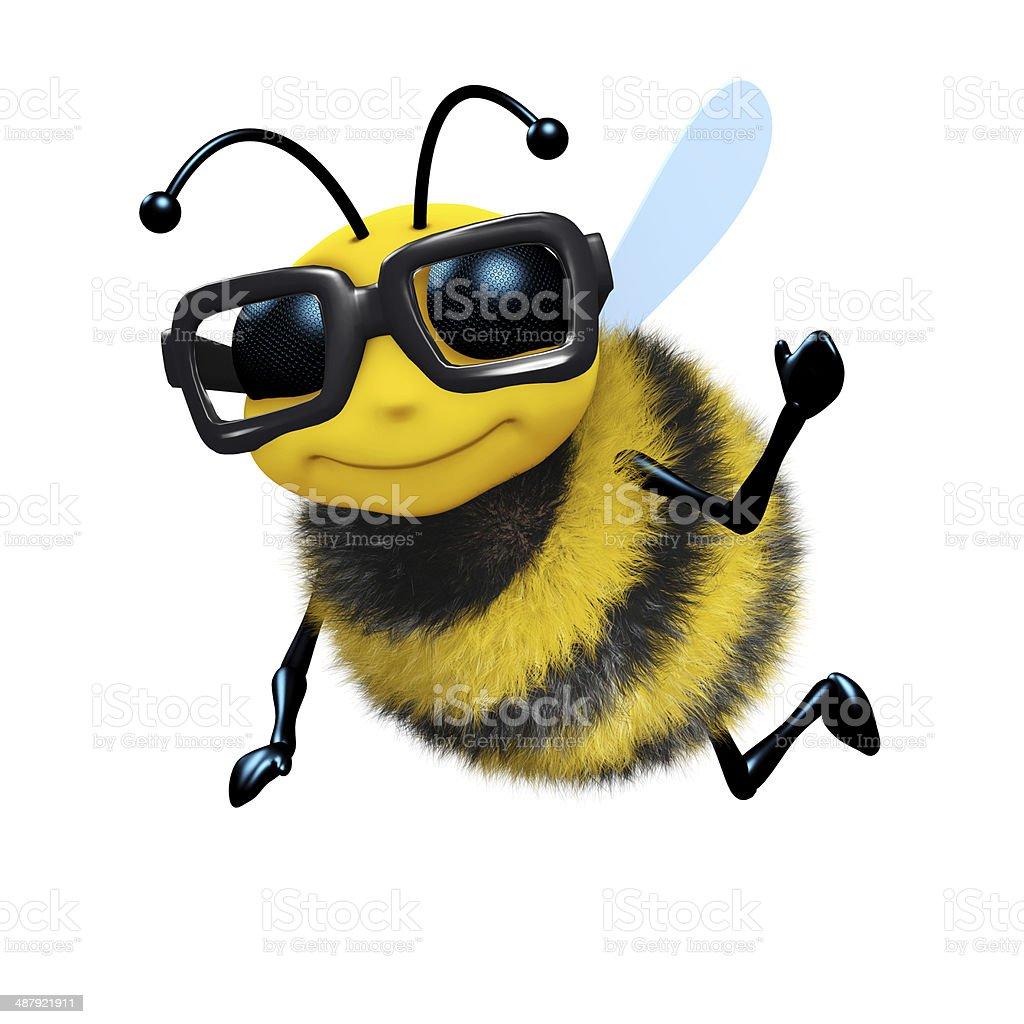 3d Academic bee stock photo