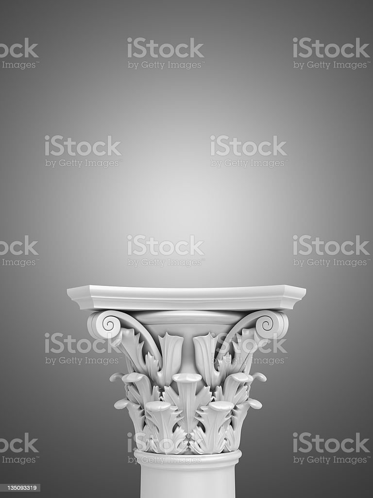 3d Advertisement Pedestal royalty-free stock photo