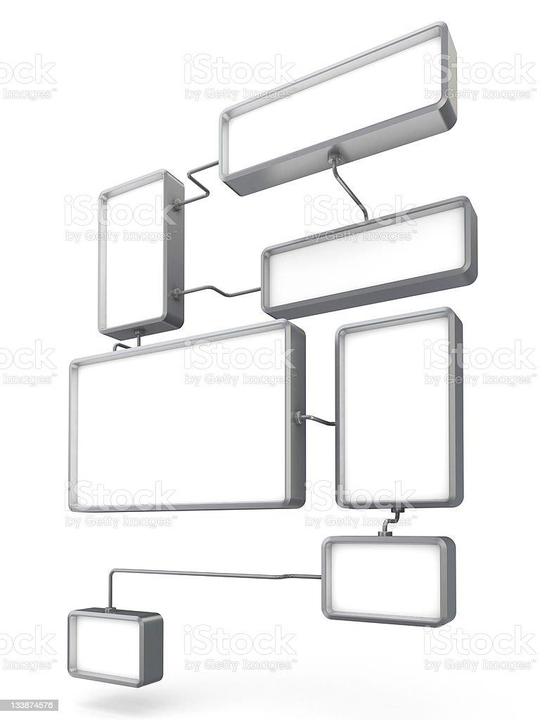 3d advertising diagram royalty-free stock photo