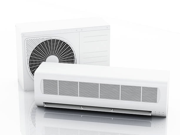 3d Air conditioner system stock photo