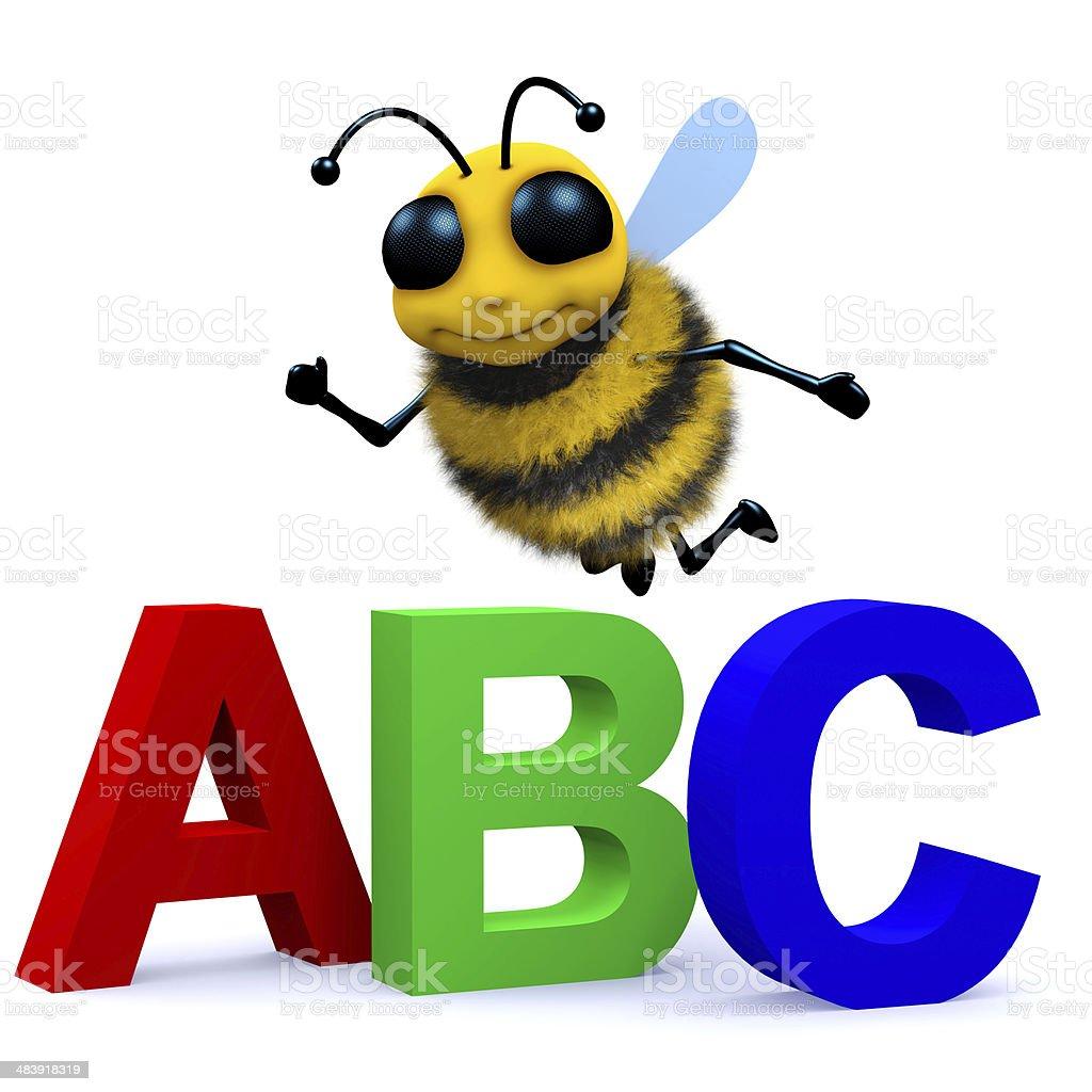 3d Alphabet bee stock photo