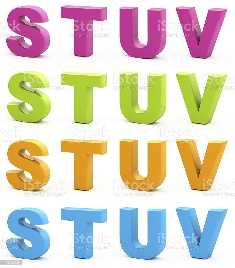 3d alphabet. stock photo