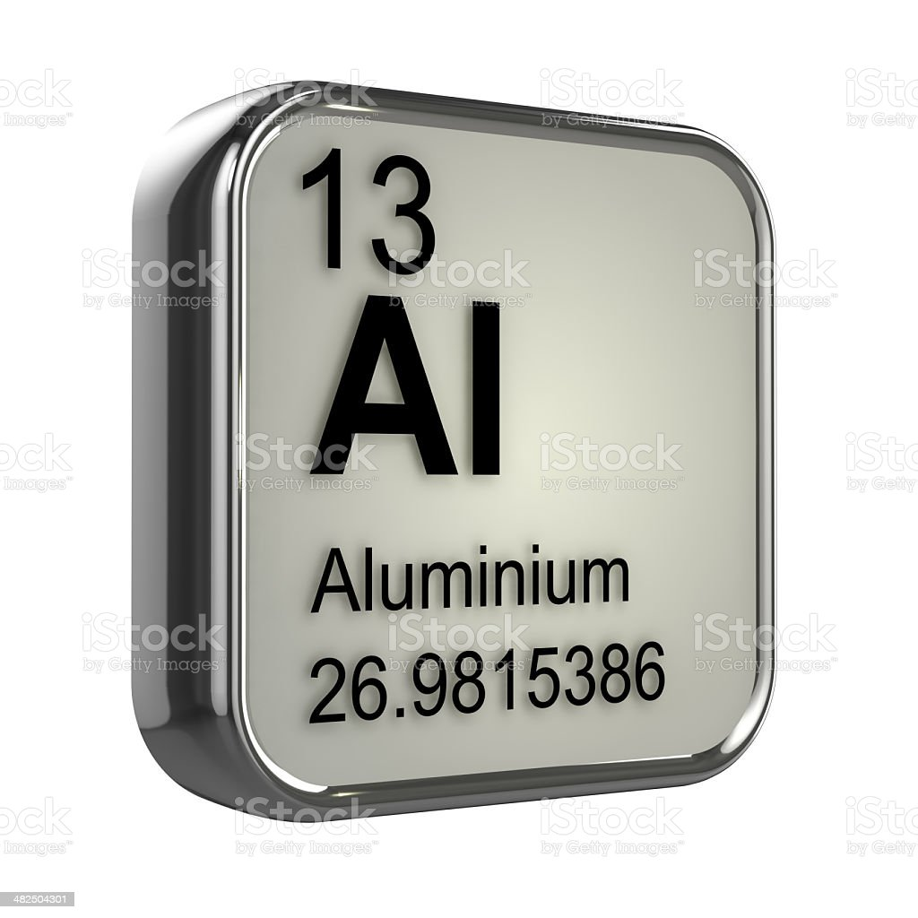 3d aluminium element royalty free stock photo