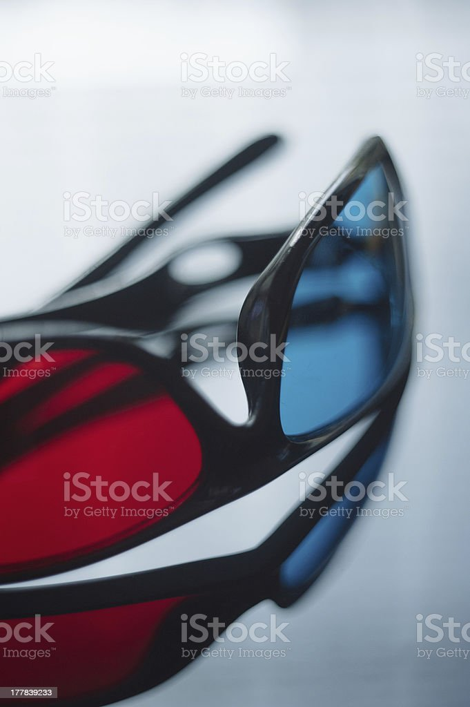 3d anaglyph glasses royalty-free stock photo