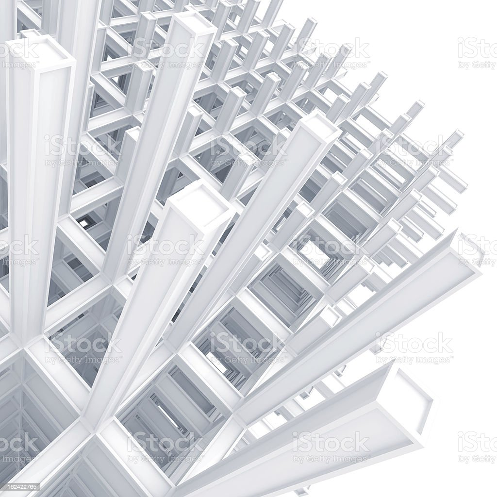 3d architecture light blue monochrome abstract royalty-free stock photo