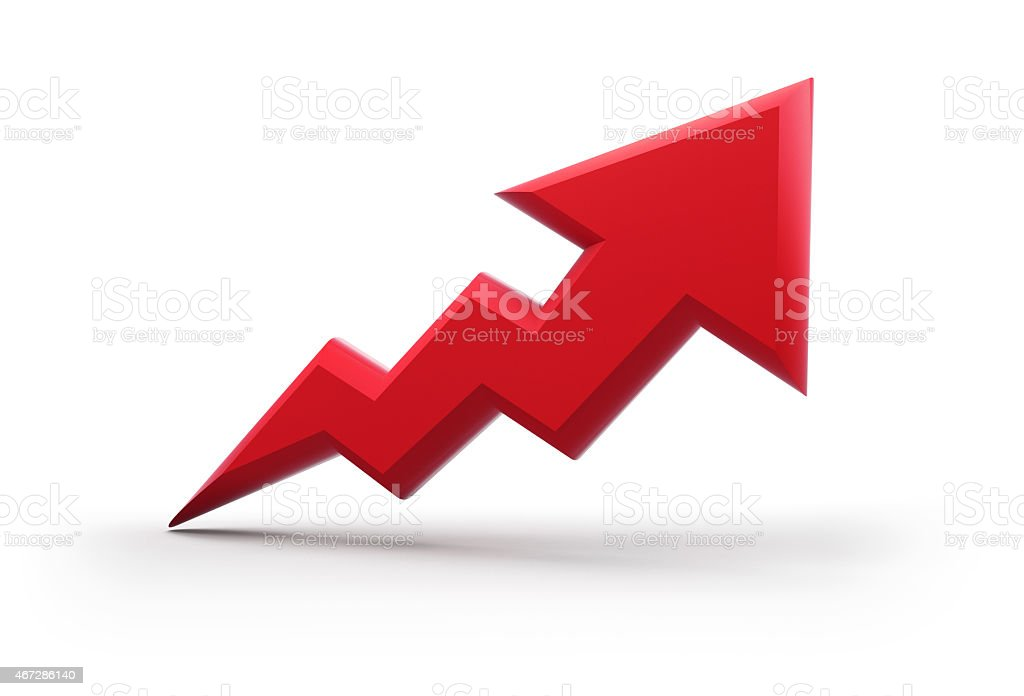 3d arrow icon stock photo
