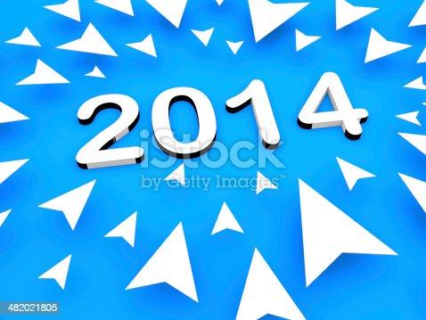 157434064istockphoto 3d arrow with 2014 text 482021805