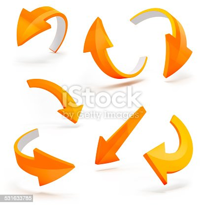 istock 3d arrows on white background 531633785