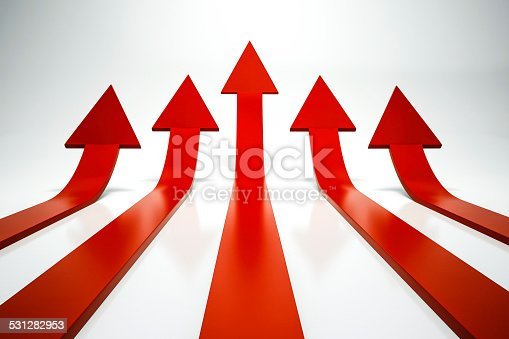 istock 3d arrows pointing up 531282953
