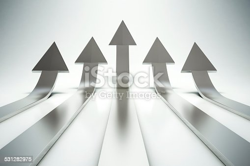 istock 3d arrows pointing up 531282975